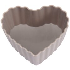 Silicone Heart Cupcake Cases in Grey (Set of 6)