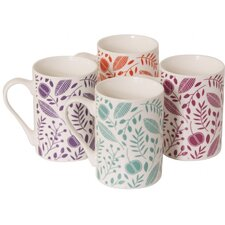 9 oz. Porcelain Mug in Arabella (Set of 4)