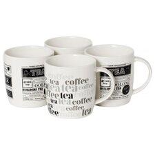 4 Piece Bone China Mug Set