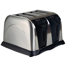 Four Slice Stainless Steel Toaster