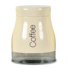 Cream Coffee Jar