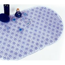 Blue Oval PVC Bath Mat