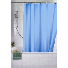 Aqua Polyester Shower Curtain