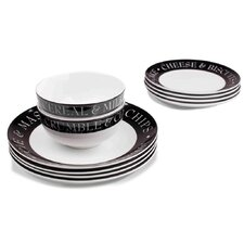 12 Piece Pie and Mash Dinnerware Set