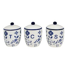 <strong>Sabichi</strong> Trailing Flowers Canister Set with Rubber Seal (Set of 3)