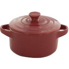 Home Bistro 14cm Mini Stoneware Casserole in Red