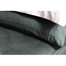 <strong>Plush Living</strong> Caiman Pillow Case Set in Jet Set Black