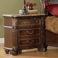 Regal 3 Drawer Nightstand