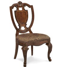 Old World Shield Back Side Chair (Set of 2)