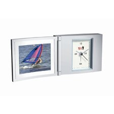Folded Travel Alarm Clock with Photo Frame