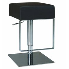 Adjustable Backless Swivel Stool with Square Seat in Black