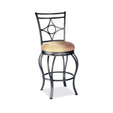 "26"" Memory Swivel Counter Stool with Low Round Seat"