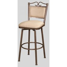 "26"" Memory Swivel Counter Stool with Cushioned Back"