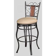 "26"" Memory Swivel Counter Stool with Round Seat"