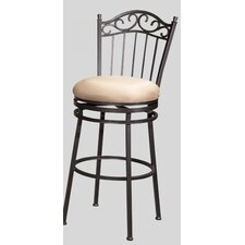 "<strong>Chintaly Imports</strong> 26"" Swivel Bar Stool with Cushion"