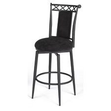 "26"" Swivel Memory Return Counter Stool in Black"