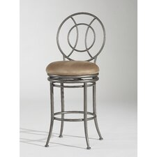 "26"" Swivel Memory Return Counter Stool with Round Back"