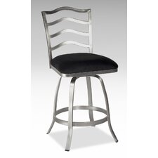 "26"" Swivel Memory Return Counter Stool with Ladder Back"