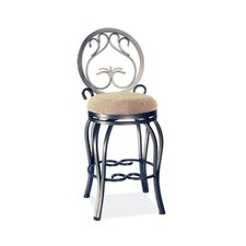 "26"" Swivel Memory Return Counter Stool with Curved Legs"
