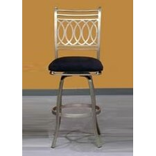 Julia Memory Swivel Counter Stool in Nickel Plated