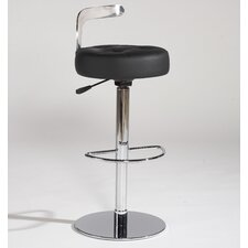 <strong>Chintaly Imports</strong> Adjustable Bar Stool with Cushion