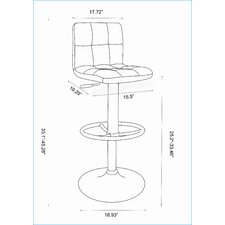 "25"" Adjustable Bar Stool with Cushion"