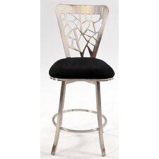 "Microfiber 26"" Swivel Counter Stool"