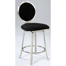 "Microfiber 26"" Swivel Bar Stool"