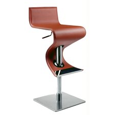 Adjustable Swivel Stool in Rust