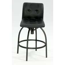 Modern Swivel Stool with Upholstered Back Rest