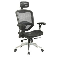 <strong>Chintaly Imports</strong> Mid-Back Adjustable Mesh Office Chair with Headrest