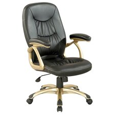 <strong>Chintaly Imports</strong> Ultra Comfortable High-Back Leather Office Chair