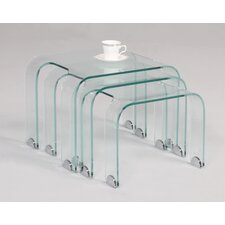 <strong>Chintaly Imports</strong> Bent Nesting Tables (3 Piece Set)