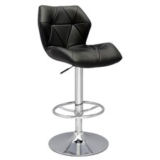 <strong>Chintaly Imports</strong> Pneumatic Gas Adjustable Swivel Bar Stool with Cushion