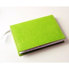 On the Go Pebble Grain Medium Address Book in Lime