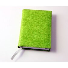 <strong>Budd Leather</strong> On the Go Pebble Grain Small Address Book in Lime