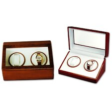 <strong>Budd Leather</strong> Watch Winder Double Watch Winder in Wooden Case