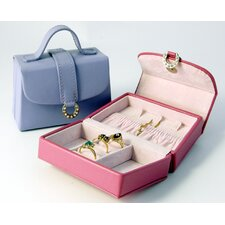 Bold and Spring Ladies Petite Handbag Jewelry Box in Pink