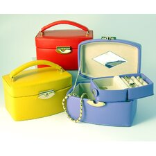 <strong>Budd Leather</strong> Bold and Spring Ladies Medium Jewelry Box with Travel Box