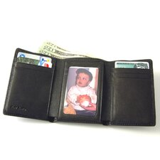 Men's Trifold Wallet with ID Window
