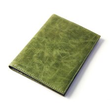 Distressed Leather Large Passport Case