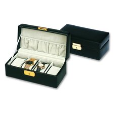 Men's 4 Watch Box in Black