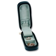 Men's Zippered Watch and Jewelry Box in Black