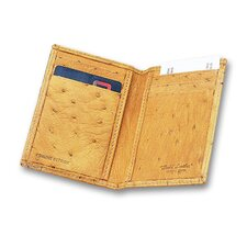 European Bidente Genuine Ostrich Men's Credit Card Case