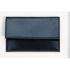 <strong>Budd Leather</strong> Buffalo Calf Business Card Case in Black