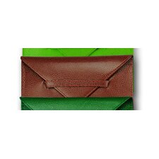 <strong>Budd Leather</strong> Lizard Grain Accessory Portable Leather Photo Case