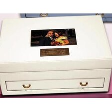 Exquisite Leather Memory Keepsake Box