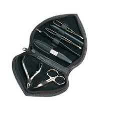 Leather Heartshaped 7 Piece Manicure Set