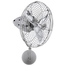 <strong>Matthews Fan Company</strong> Bruna Parede Directional Wall Fan with Metal Blades