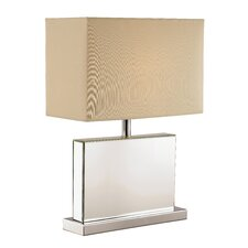 "Cubed Mirror 21"" Table Lamp with Rectangular Shade"
